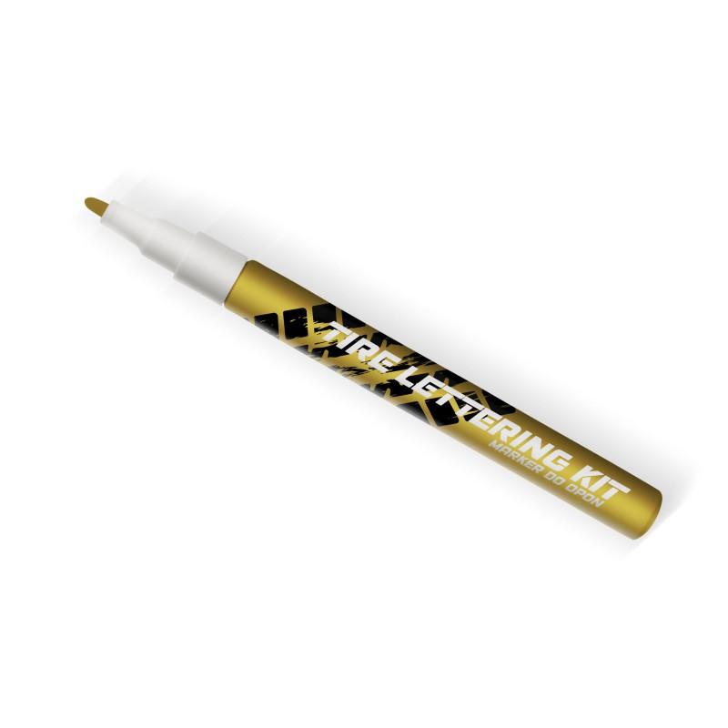 Złoty marker do opon Tire Lettering Kt - napisy na opony - GRUBYGARAGE - Sklep Tuningowy