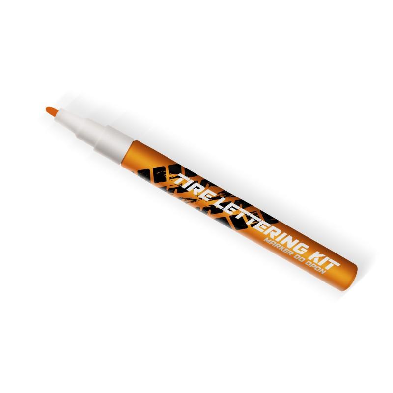 Pomarańczowy marker do opon Tire Lettering Kt - napisy na opony - GRUBYGARAGE - Sklep Tuningowy
