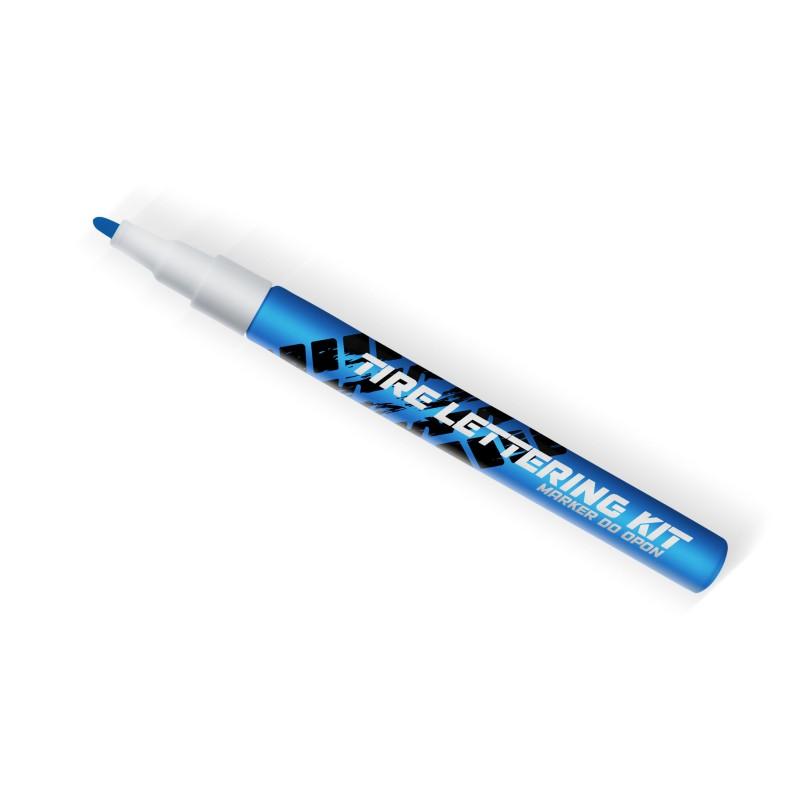 Niebieski marker do opon Tire Lettering Kt - napisy na opony - GRUBYGARAGE - Sklep Tuningowy