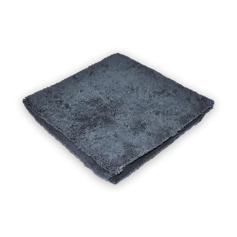 Mikrofibra bezszwowa  do wosku 380G 40X40CM Szara - GRUBYGARAGE - Sklep Tuningowy