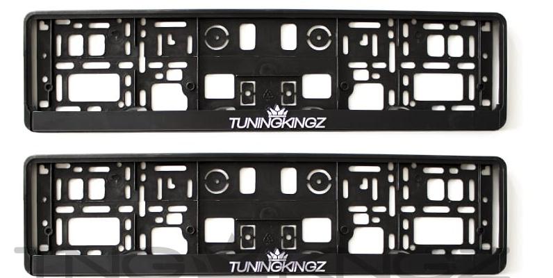 Ramki pod tablicę rejestracyjną TuningKingz 3D (komplet 2 szt.) - GRUBYGARAGE - Sklep Tuningowy