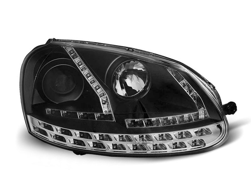 LAMPY  DAYLIGHT BLACK fits VW GOLF 5 03-08 - GRUBYGARAGE - Sklep Tuningowy