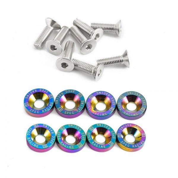 Śrubki z podkładkami M6 zestaw 8 szt. D1Spec Neochrome - GRUBYGARAGE - Sklep Tuningowy