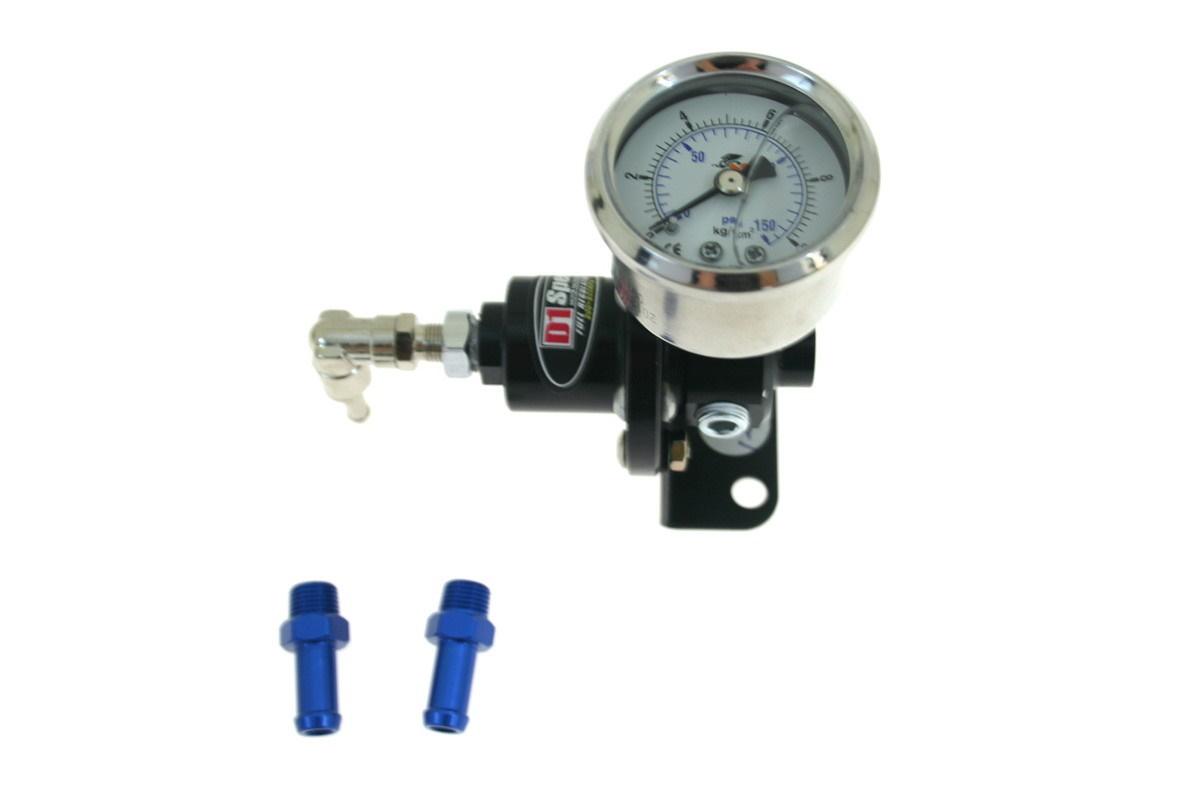 Regulator ciśnienia paliwa D1Spec BLACK - GRUBYGARAGE - Sklep Tuningowy