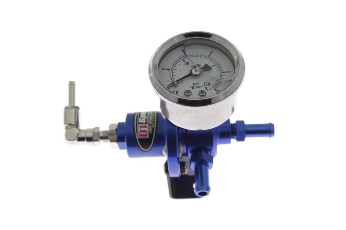 Regulator ciśnienia paliwa D1Spec BLUE - GRUBYGARAGE - Sklep Tuningowy