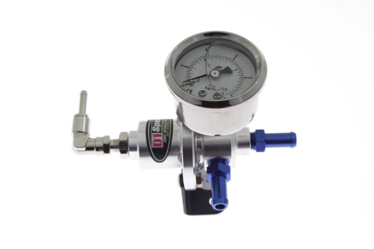 Regulator ciśnienia paliwa D1Spec SILVER - GRUBYGARAGE - Sklep Tuningowy