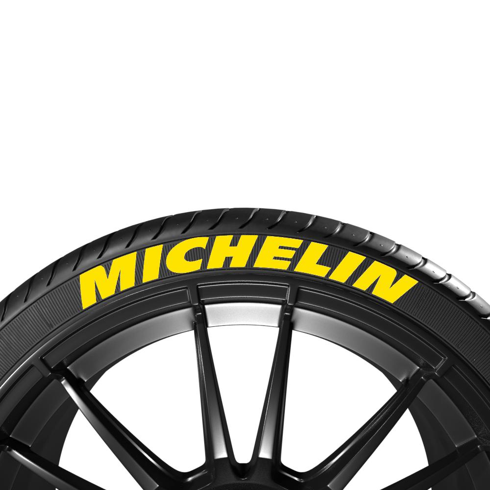 Żółte napisy na opony MICHELIN (8szt.) - GRUBYGARAGE - Sklep Tuningowy
