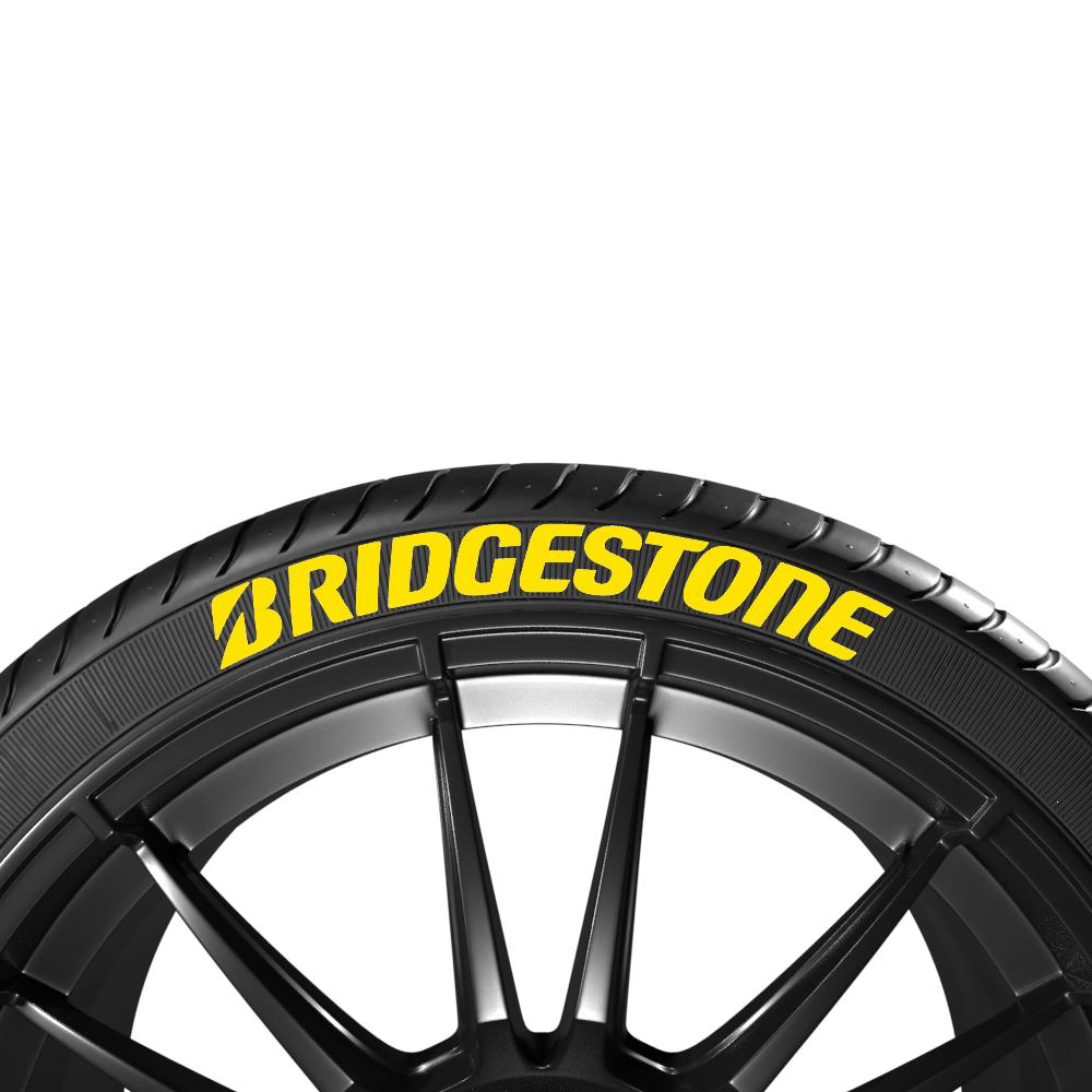 Żółte napisy na opony BRIDGESTONE (4szt.) - GRUBYGARAGE - Sklep Tuningowy