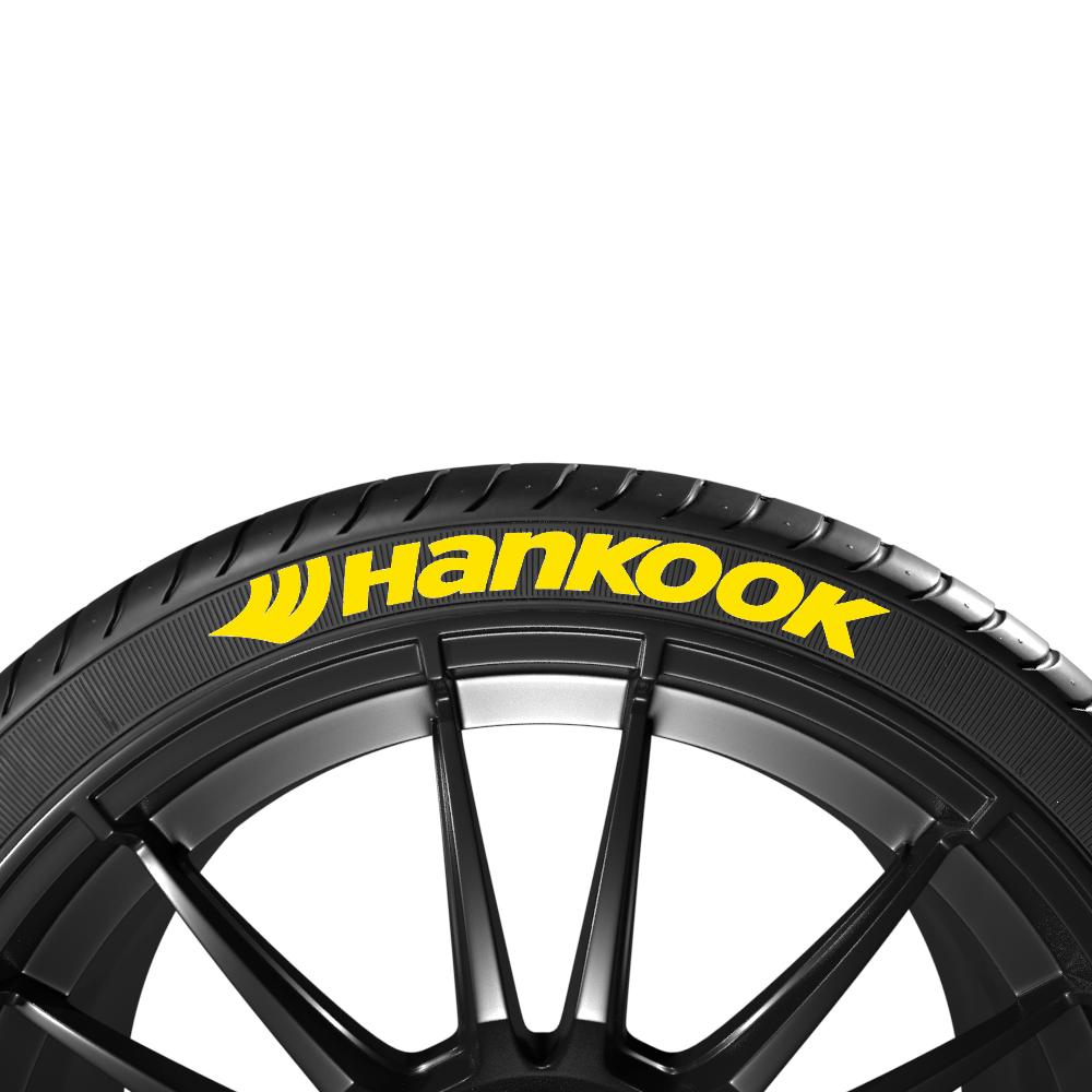 Żółte napisy na opony HANKOOK (8szt.) - GRUBYGARAGE - Sklep Tuningowy
