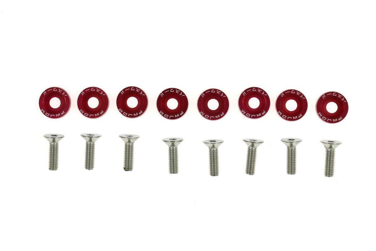 Śrubki z podkładkami uniwersalne JDM 6mm red - GRUBYGARAGE - Sklep Tuningowy