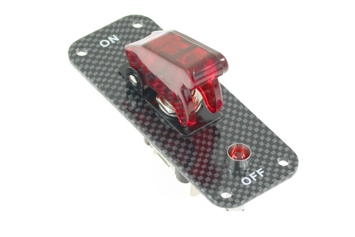 Włącznik PRO 1 Master Red Carbon - GRUBYGARAGE - Sklep Tuningowy