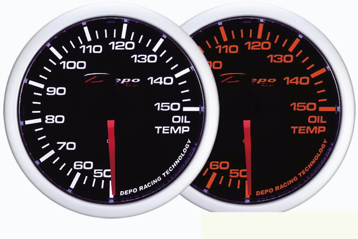 ZEGAR DEPO WA 60mm - Oil Temperature - GRUBYGARAGE - Sklep Tuningowy