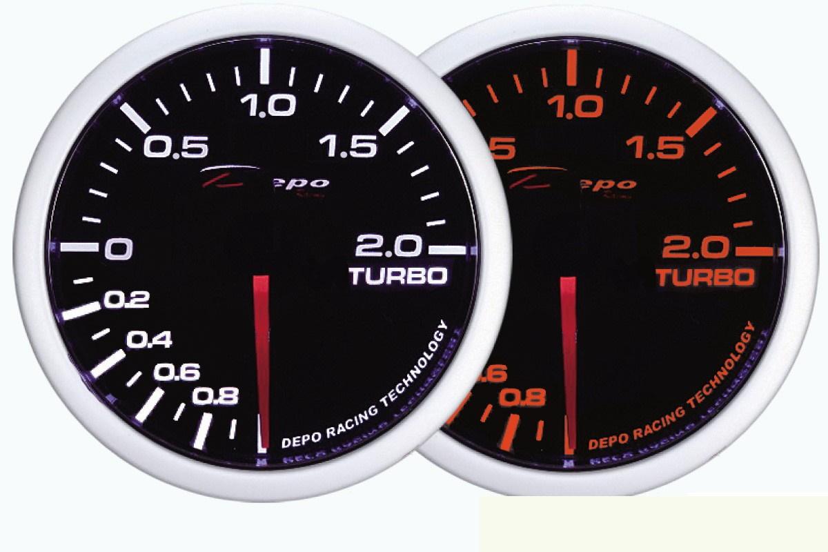 ZEGAR DEPO WA 60mm - Turbo Electric -1 do 2 BAR - GRUBYGARAGE - Sklep Tuningowy