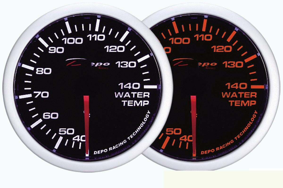 ZEGAR DEPO WA 60mm - Water Temperature - GRUBYGARAGE - Sklep Tuningowy