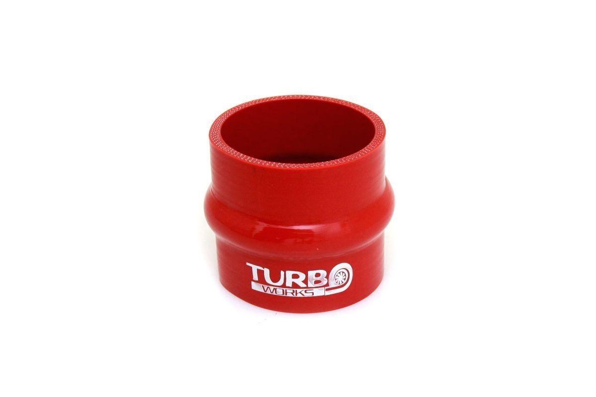 Łącznik antywibracyjny TurboWorks Red 67mm - GRUBYGARAGE - Sklep Tuningowy