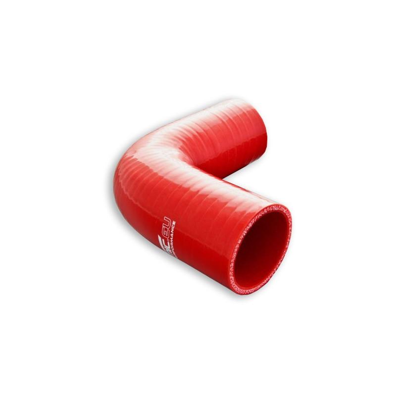 Kolanko silikonowe FMIC 90st 63mm Czerwone - GRUBYGARAGE - Sklep Tuningowy