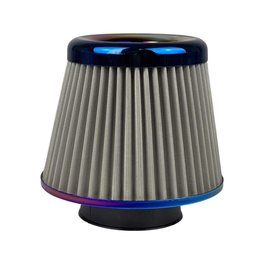Filtr stożkowy METALOWY Burn Blue / Neochrome - GRUBYGARAGE - Sklep Tuningowy