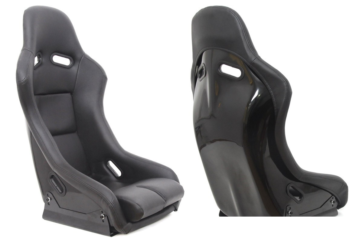 Fotel sportowy GTR Skóra Black - GRUBYGARAGE - Sklep Tuningowy