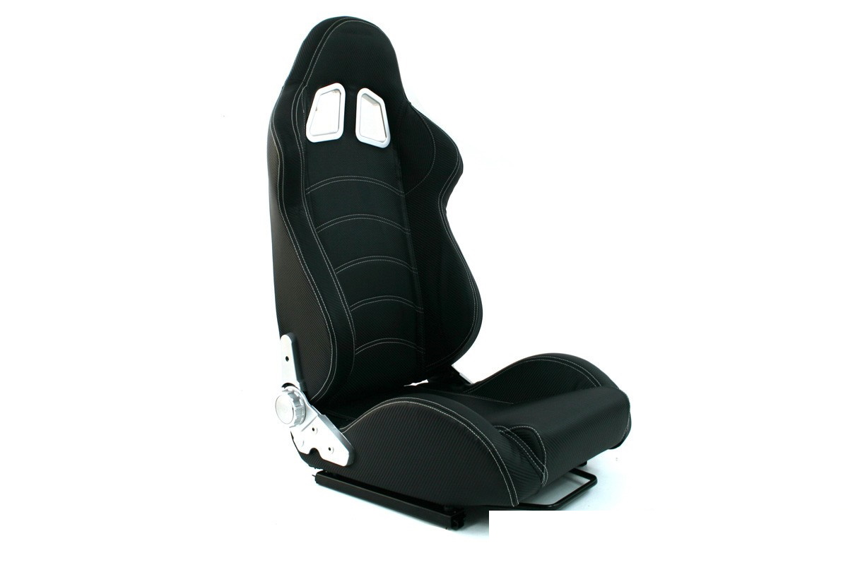 Fotel sportowy MONZA BLAST Carbon Black - GRUBYGARAGE - Sklep Tuningowy