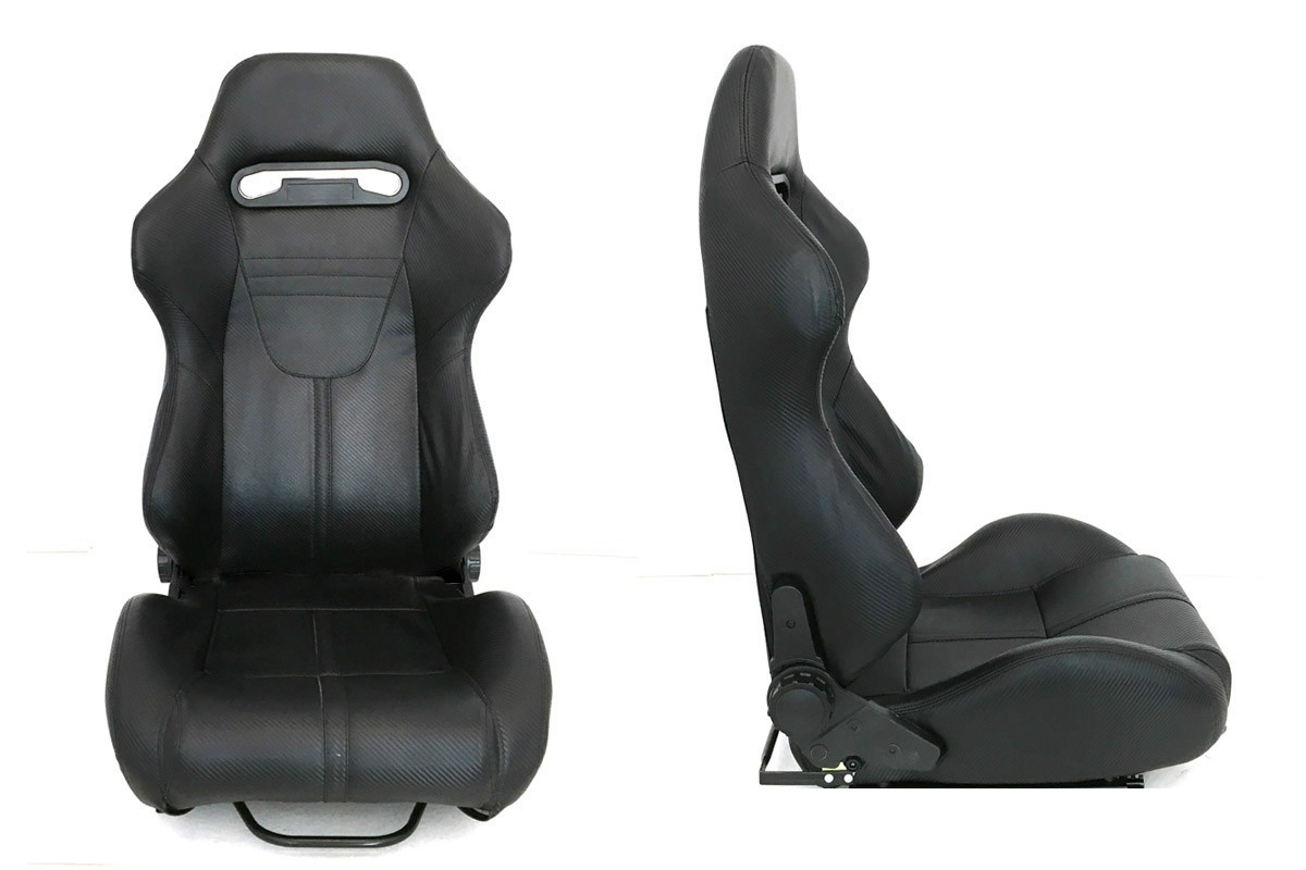 Fotel sportowy R-LOOK II Carbon - GRUBYGARAGE - Sklep Tuningowy