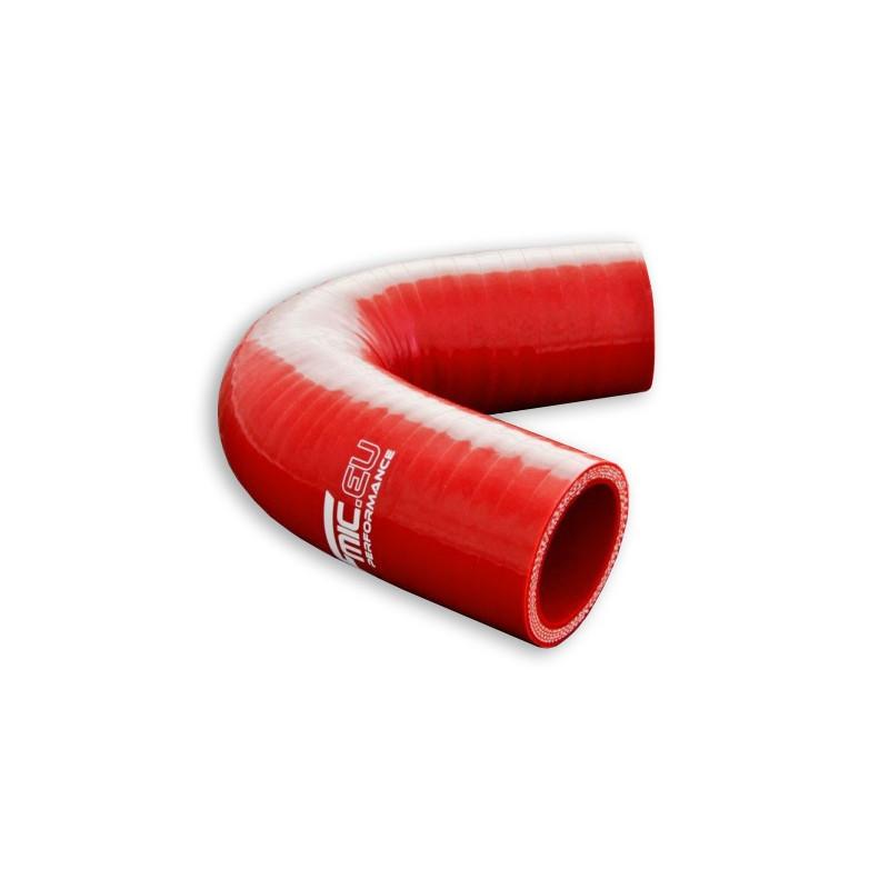 Kolanko silikonowe FMIC 135st 76mm Czerwone - GRUBYGARAGE - Sklep Tuningowy