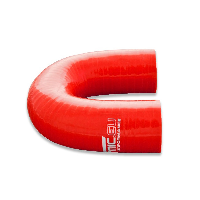 Kolanko silikonowe FMIC 180st 51mm Czerwone - GRUBYGARAGE - Sklep Tuningowy