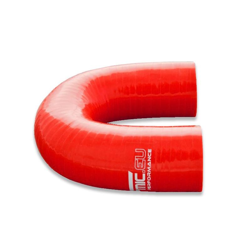 Kolanko silikonowe FMIC 180st 76mm Czerwone - GRUBYGARAGE - Sklep Tuningowy