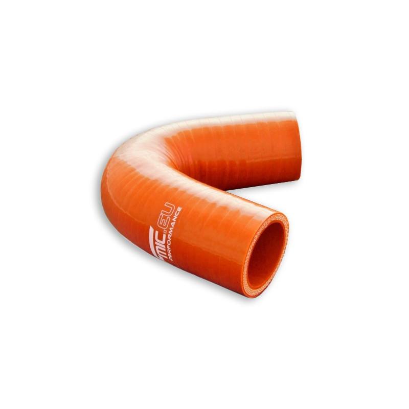 Kolanko silikonowe FMIC 135st 38mm Pomarańczowe - GRUBYGARAGE - Sklep Tuningowy