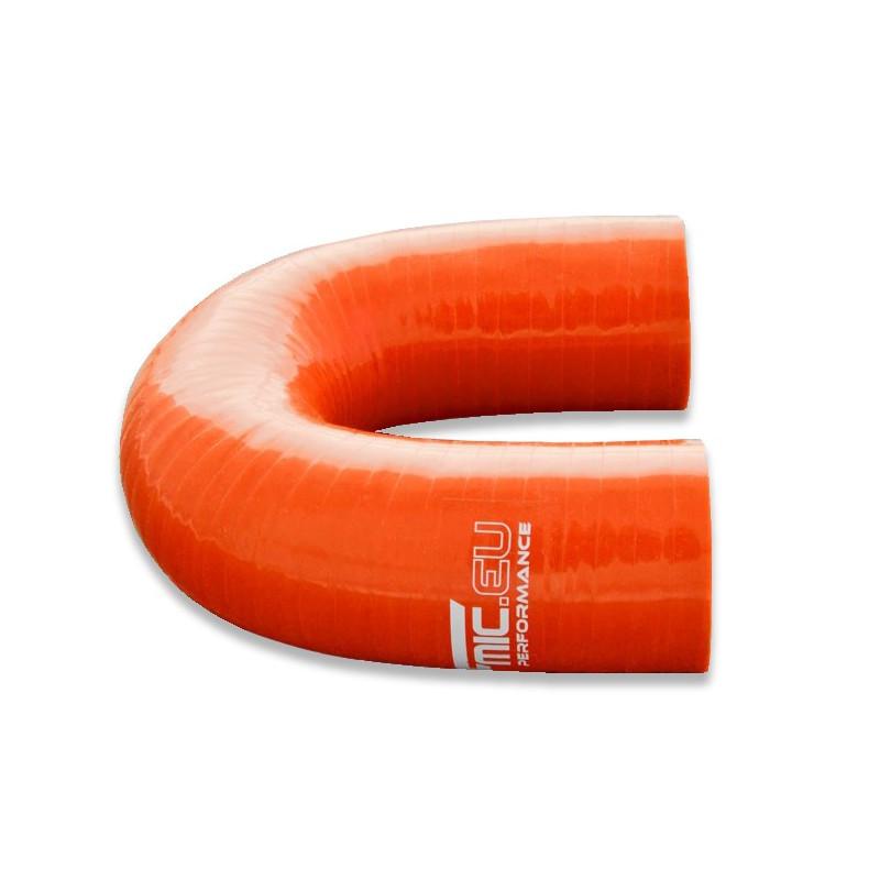 Kolanko silikonowe FMIC 180st 45mm Pomarańczowe - GRUBYGARAGE - Sklep Tuningowy