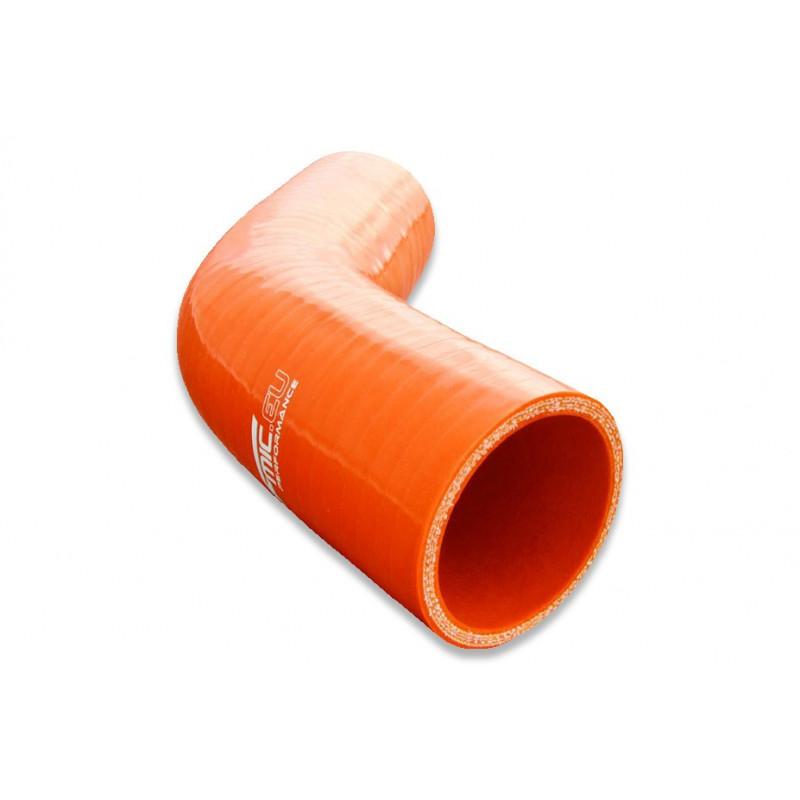 Kolanko silikonowe FMIC 45st 70mm Pomarańczowe - GRUBYGARAGE - Sklep Tuningowy