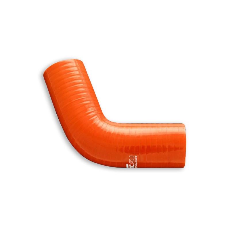 Kolanko silikonowe FMIC 67st 89mm Pomarańczowe - GRUBYGARAGE - Sklep Tuningowy