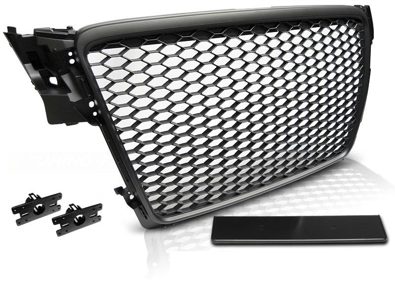 GRILLE SPORT BLACK fits AUDI A4 B8 08-11 - GRUBYGARAGE - Sklep Tuningowy