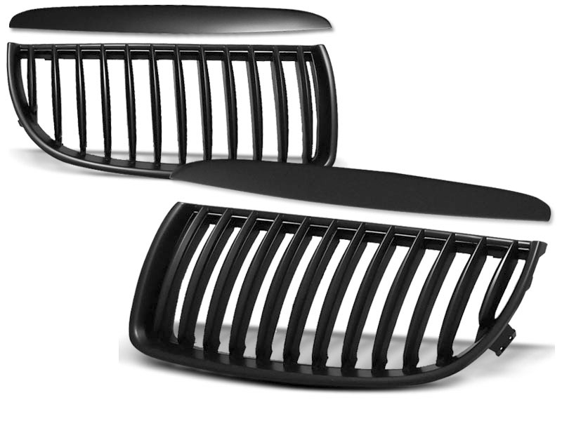 GRILLE BLACK fits BMW E90 / E91 03.05-08.08 - GRUBYGARAGE - Sklep Tuningowy