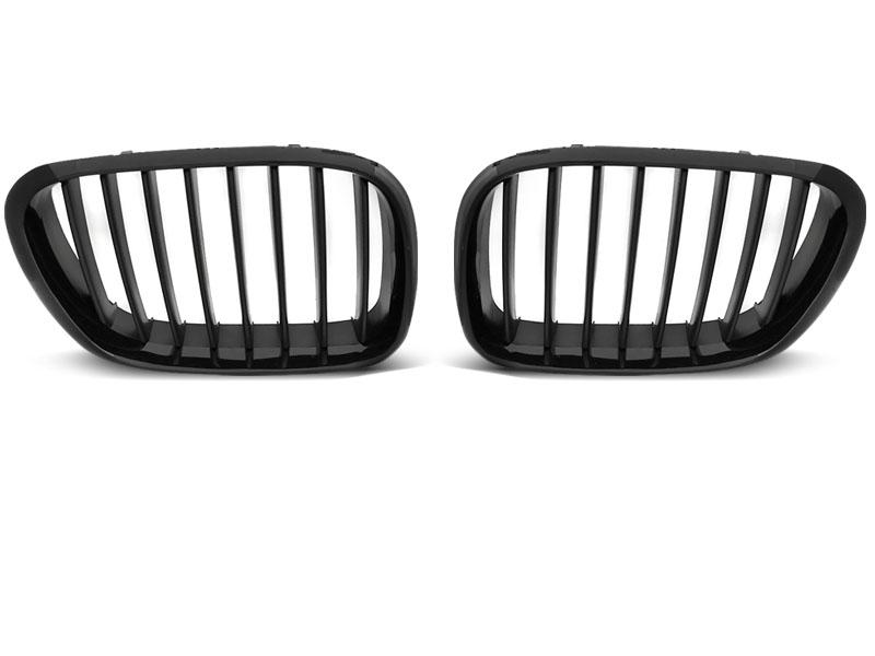 GRILLE GLOSSY BLACK-BLACK FRAME fits BMW X5 E53 09.99-10.03 - GRUBYGARAGE - Sklep Tuningowy