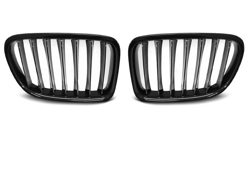 GRILLE GLOSSY BLACK fits BMW X1 E84 LCI 12-14 - GRUBYGARAGE - Sklep Tuningowy