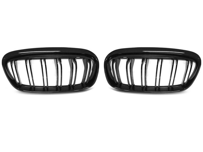 GRILLE GLOSSY BLACK DOUBLE BAR fits BMW F45/F46 14-18 - GRUBYGARAGE - Sklep Tuningowy