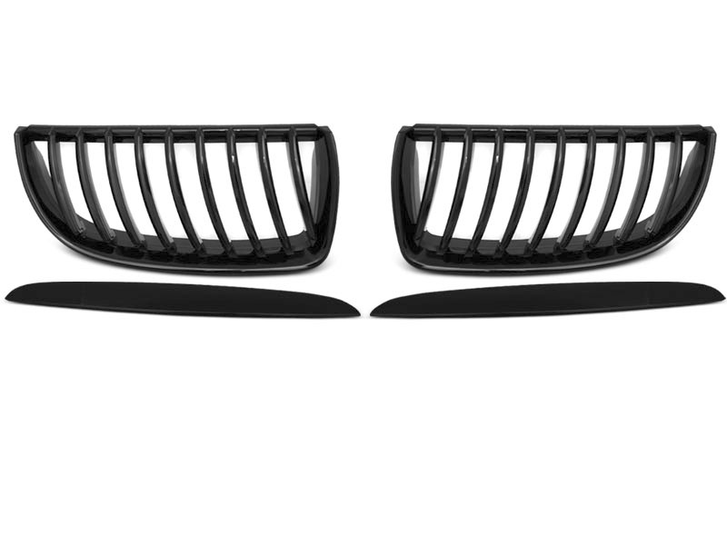 GRILLE GLOSSY BLACK fits BMW E90 / E91 03.05-08.08 - GRUBYGARAGE - Sklep Tuningowy