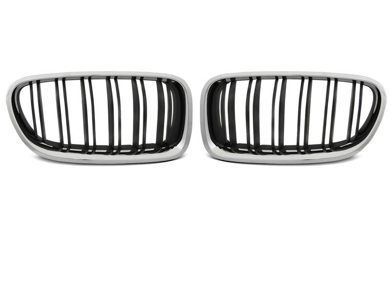 GRILLE CHROME BLACK SPORT LOOK fits BMW F10 / F11 10-16 - GRUBYGARAGE - Sklep Tuningowy