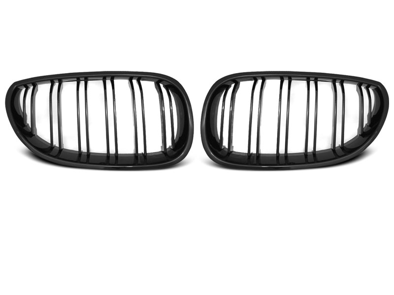 GRILLE GLOSSY BLACK DOUBLE BAR SPORT LOOK fits BMW E60/E61 07.03-10 - GRUBYGARAGE - Sklep Tuningowy