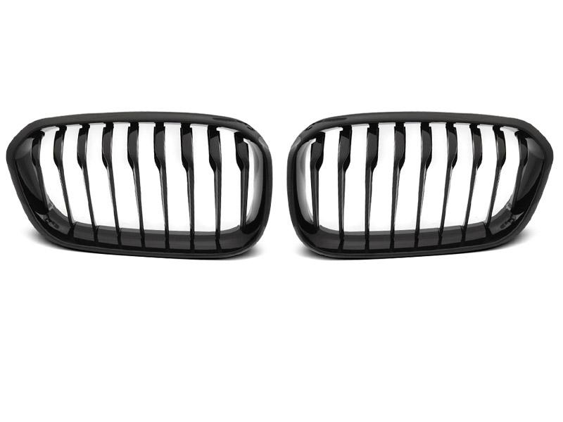 GRILLE GLOSSY BLACK fits BMW F20 F21 LCI 15-18 - GRUBYGARAGE - Sklep Tuningowy