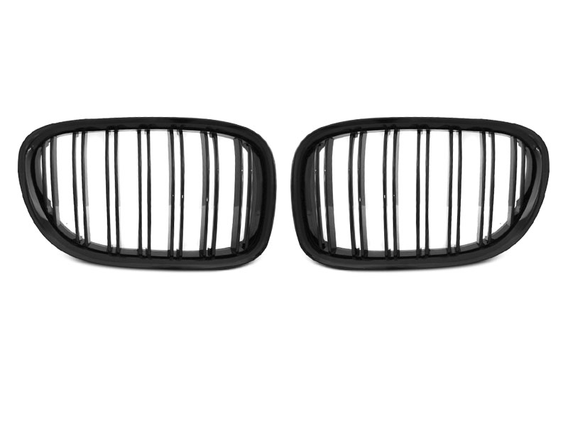 GRILLE GLOSSY BLACK DOUBLE BAR fits BMW F01 09-15 - GRUBYGARAGE - Sklep Tuningowy