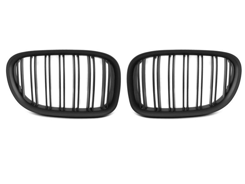 GRILLE BLACK MATT DOUBLE BAR fits BMW F01 09-15 - GRUBYGARAGE - Sklep Tuningowy