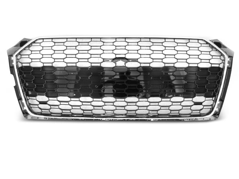 GRILLE SPORT CHROME GLOSSY BLACK fit AUDI A5 19- - GRUBYGARAGE - Sklep Tuningowy
