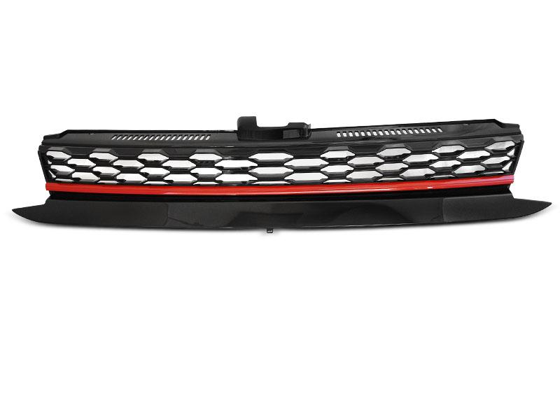 GRILLE SPORT BLACK RED fits VW GOLF 7 17- - GRUBYGARAGE - Sklep Tuningowy