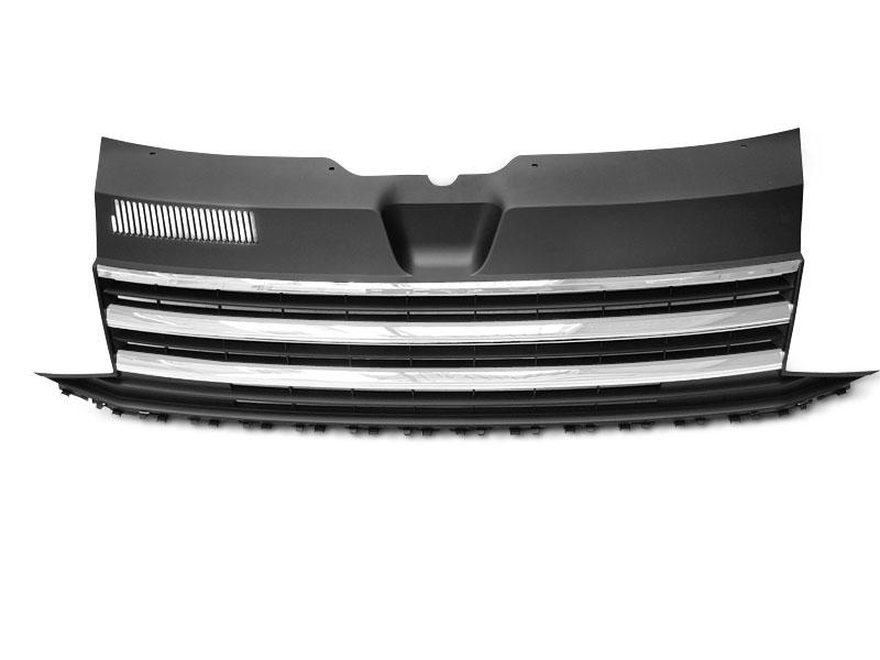 GRILLE CHROME BLACK fits VW T6 15-19 - GRUBYGARAGE - Sklep Tuningowy