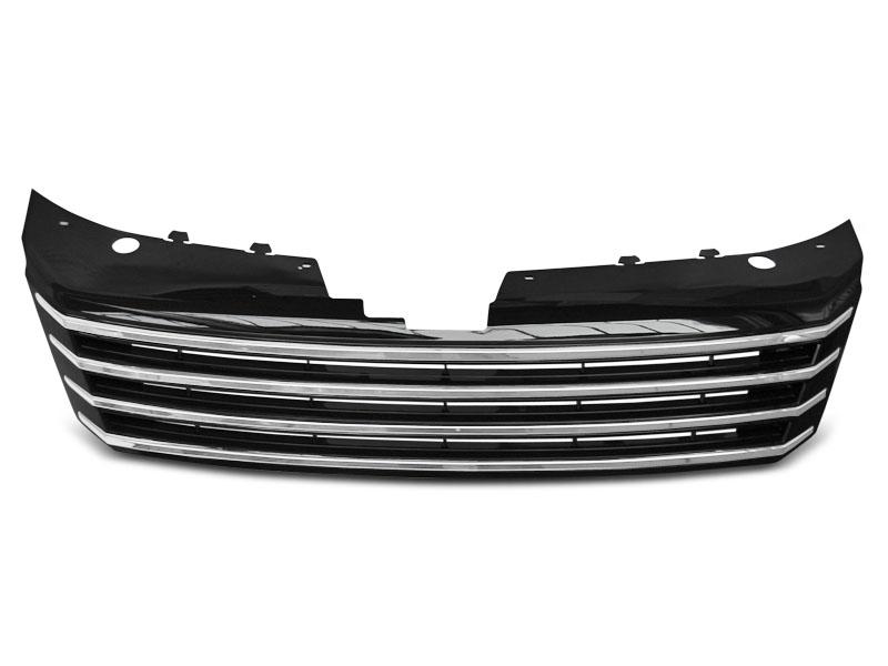GRILLE CHROME BLACK fits VW PASSAT B7 10-14 - GRUBYGARAGE - Sklep Tuningowy