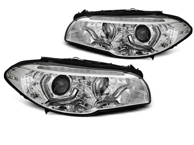 LAMPY XENON HEADLIGHTS ANGEL EYES LED DRL CHROME SEQ fits BMW F10/F11 10-13