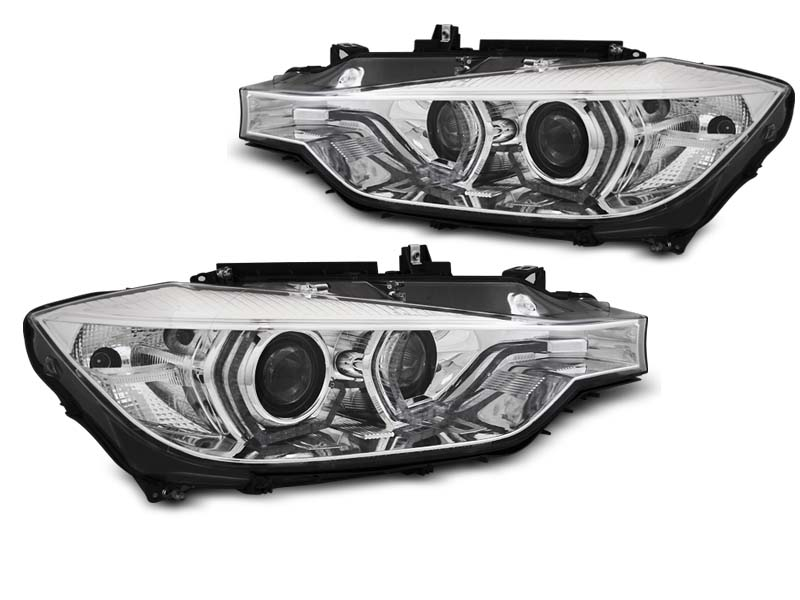 LAMPY XENON HEADLIGHTS ANGEL EYES LED DRL CHROME fits BMW F30/F31 10.11 - 05.15