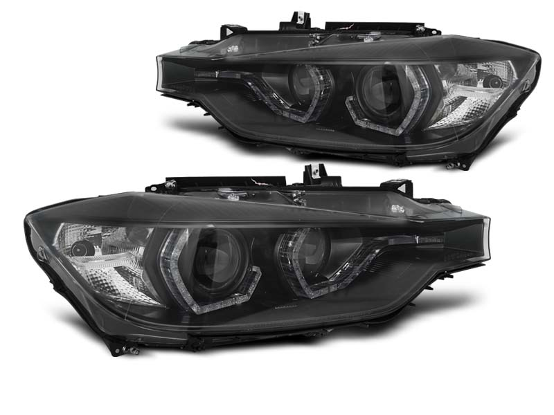 LAMPY XENON HEADLIGHTS ANGEL EYES LED DRL BLACK AFS fits BMW F30/F31 10.11 - 05.15