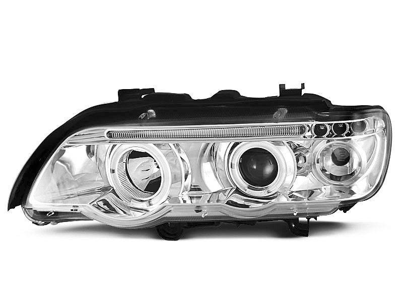 Lampy ANGEL EYES CHROME fits BMW X5 E53 09.99-10.03